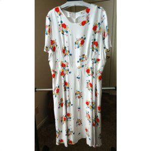 Boden Women plus sz 18 flower flare long dress